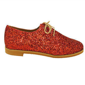 "MARGO SHOES Plus Size Oxfords ""GLITTER DROPS"" Κόκκινο"