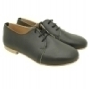 MARGO SHOES Plus Size Oxfords Δέρμα Μαύρο