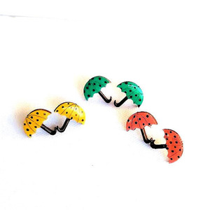 "Stud earrings ""Mini Umbrellas""."