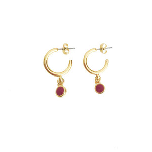 Small red wine earrings