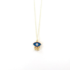 Boho evil eye necklace