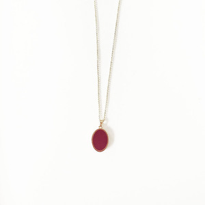 Red wine oval pendant