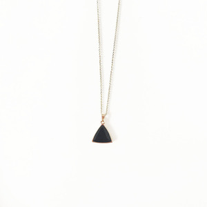 Black triangle pendant