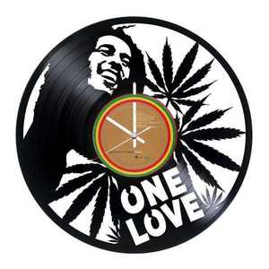BOB MARLEY (one love) Vinyl Record Wall Clock