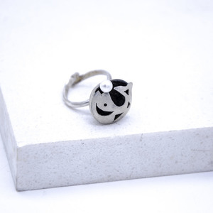 """Fish"" Ring, Silver 925, Fresh water pearl"
