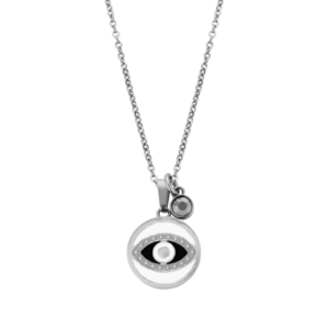 EYE NECKLACE SILVER By Natalie Gersa