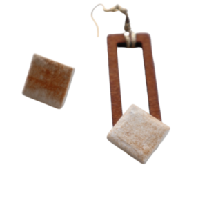 Tile & Wood Earrings