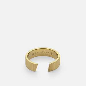 RIBBED SKULTUNA RING WIDE