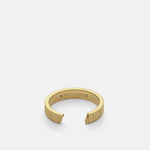 RIBBED SKULTUNA RING