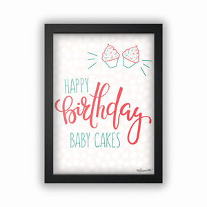 "Πόστερ ""Happy Birthday Baby Cakes"" 