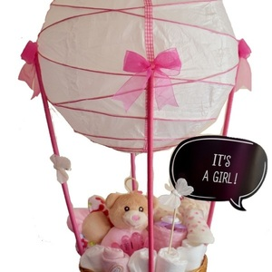 Diaper Cake (Diaper Pink Air Balloon