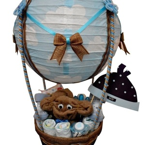 Diaper Cake (Diaper Monkey Air Balloon