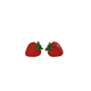 "Stud earrings ""Strawberry""."