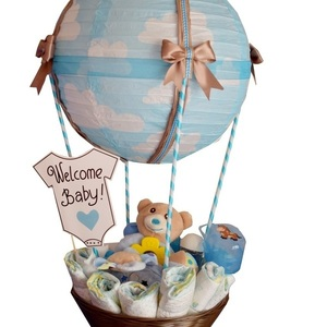 Diaper Cake (Diaper Air Balloon Blue)