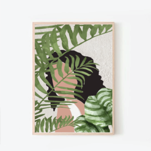 psithurism | artprint with plants | 50x70