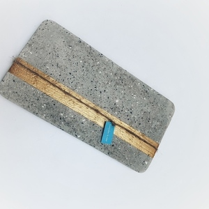 concrete tray _ gold stripe