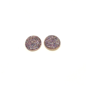Glitter clay earrings