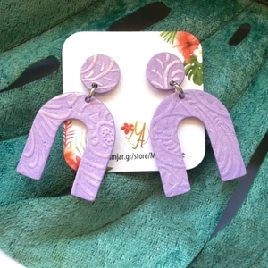 Arch Earrings, Polymer Clay Earrings