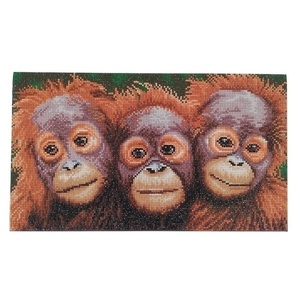 "Πίνακας Diamond Painting ""Little monkeys"""