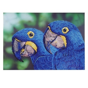 "Πίνακας Diamond Painting ""Blue macaws"""