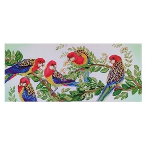 "Πίνακας Diamond Painting ""Rosellas"""