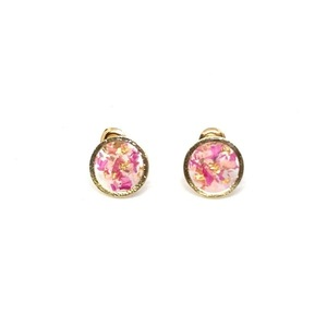 Rose Petals Earrings - Round