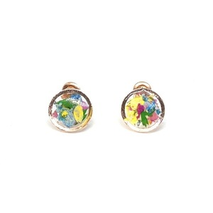 Confetti Earrings - Bronze - Round