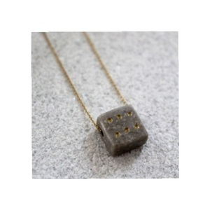 D I C E Necklace in Natural Stone