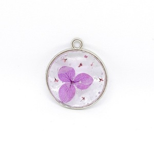 Magic Petals - Purple -Pressed Flower Necklace