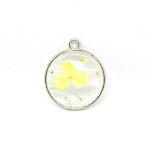 Magic Petals - Yellow -Pressed Flower Necklace