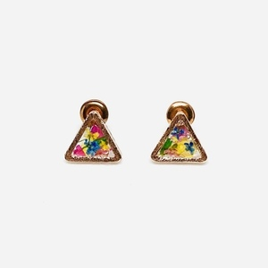 Confetti Earrings - Bronze - Triangle