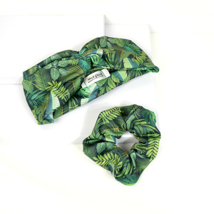"""Jungle Speed"" set headband & scrunchy"
