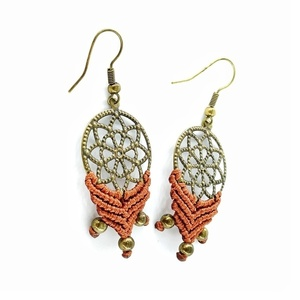 Macrame mandala earrings