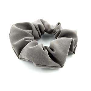 Gray scrunchie