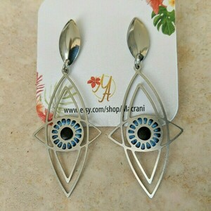 Stainless Steel Eye Earrings