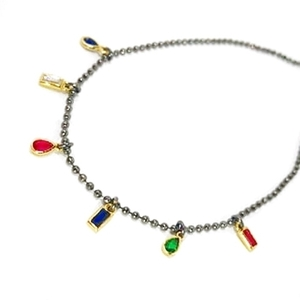 Rocky Blings: chain & multi-colour blings, κολιέ με χρωματιστά charms