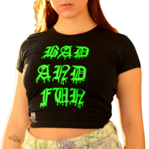 Neon Green Bad and Fun Crop Top