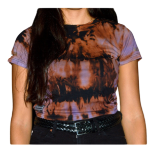 Tie Dye Crop Top Purple