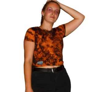 Tie Dye Crop Top Orange
