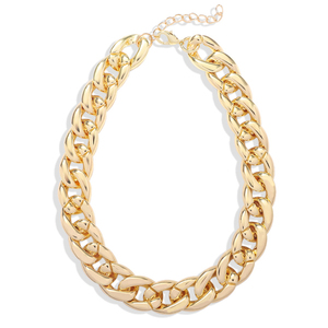 Statement gold chunky necklace