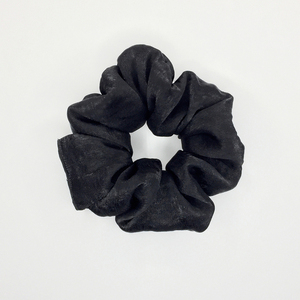 *Black Night* medium satin scrunchie
