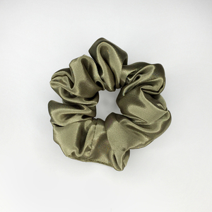 *Olive* medium satin scrunchie