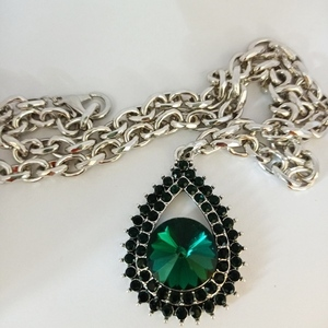 Κολιέ OLY chain and emerald