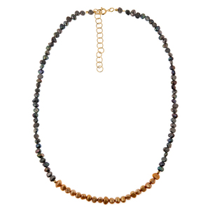 Black & Gold Pearl Necklace